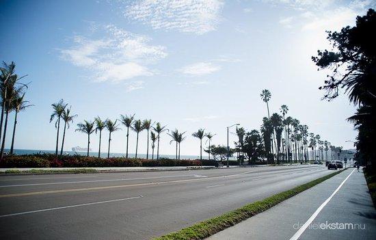 Motel 6 Santa Barbara - Beach: Strandpromenaden 40m från Motellet.