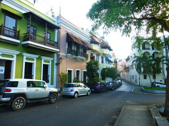 Hotel El Convento: Old San Juan streetscape