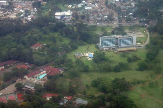 Mount Meru Hotel : View from the air, flying out of Arusha