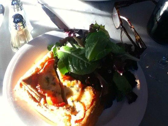 Mon Petit Choux : Quiche, fresh tomato and chevre