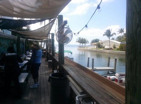 Waterfront Restaurant: On deck outside
