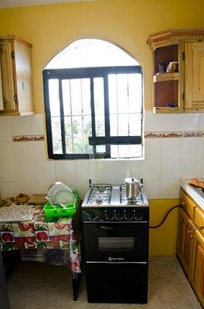 Aire y Mar Hotel Apartment : Kitchen