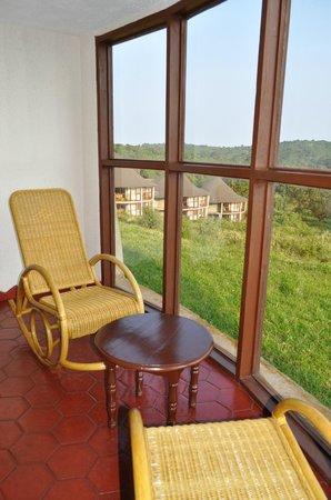 Ngorongoro Sopa Lodge: Вид из окна