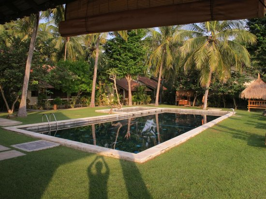 Cocotinos Sekotong, Boutique Beach Resort & Spa: Pool View with rooms in the background