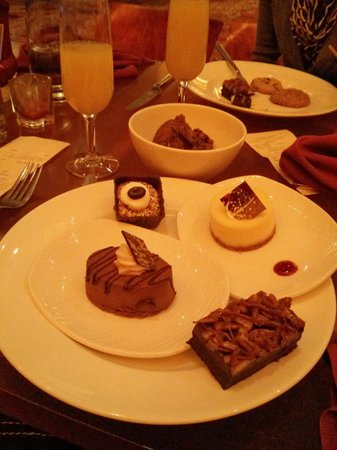 Cravings Buffet at The Mirage: Array of desserts and my mimosa