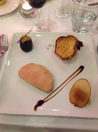 Chateau Saint Just : Foie gras au restaurant excellent