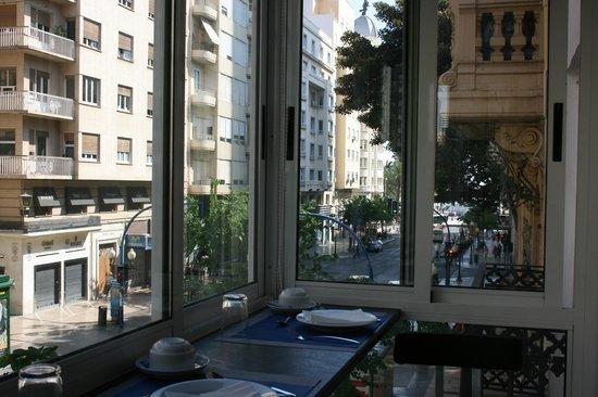 Mendez Nuñez: Vista desde salón de desayunos