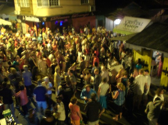 Gros Islet Street Party: Street party view from the balcony