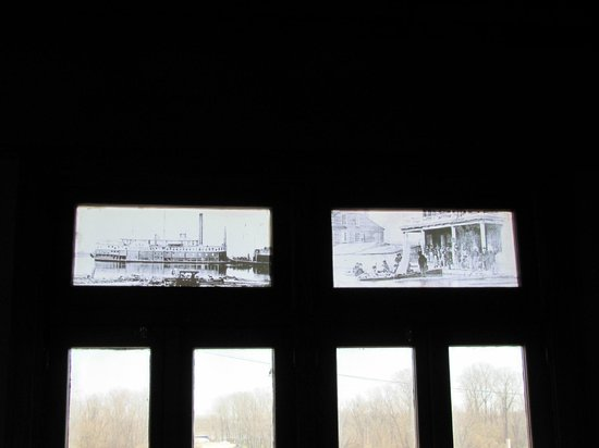 Delta Cultural Center: The top glass paneling on second floor of depot section