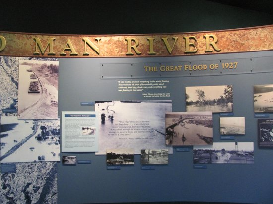 Delta Cultural Center: Display of great flood 1929