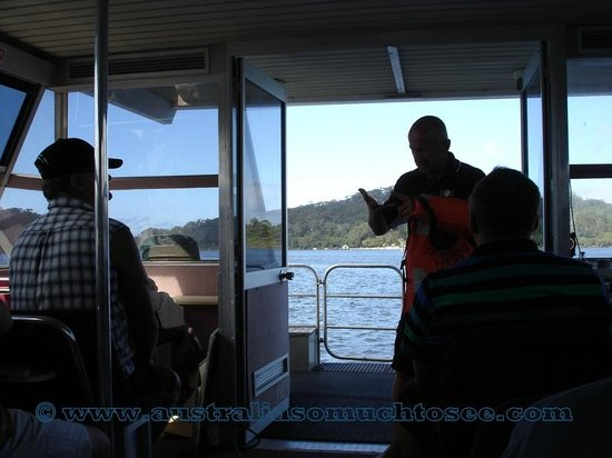 WOW Wilderness Ecocruise: The amazing Gary Muir keep everyone entertained and informed on the WOW boat