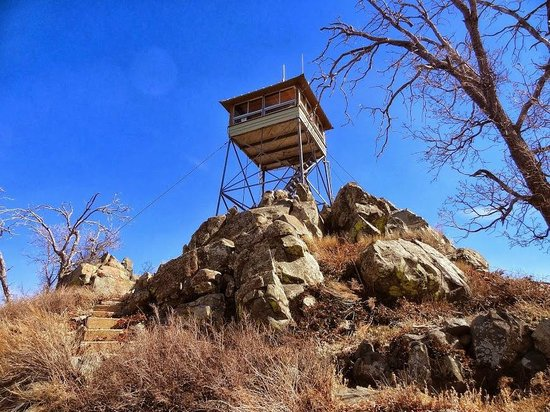 Prescott National Forest: Fire Lookout at the top of Spruce Mountain