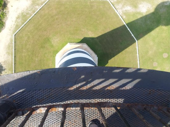 Cape Hatteras Lighthouse: over the rail.