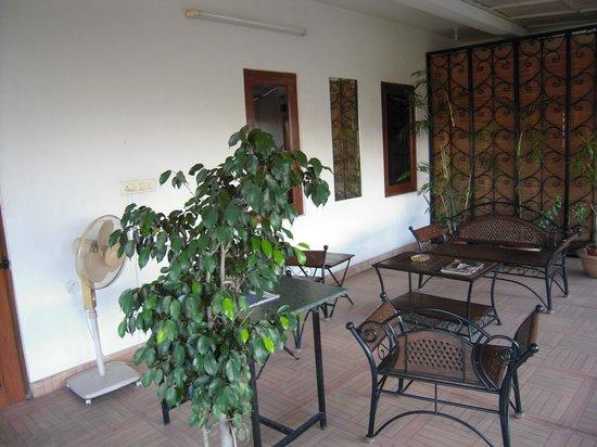 Girisadan Homestay: Terrace ouitside our room