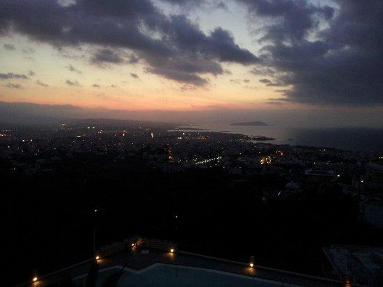 Royal Sun Hotel: Abendstimmung von Balkon der Bar