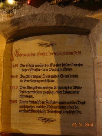 Zum Gulden Stern: Гордость за свою историю