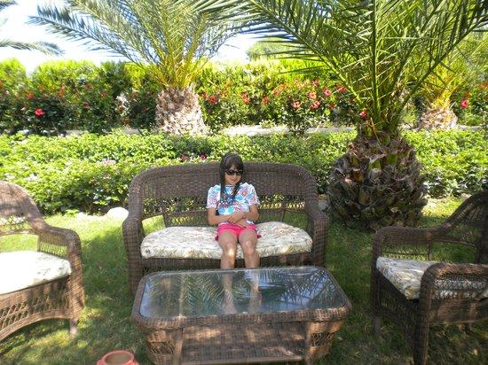 Dinler Hotels - Alanya: Зеленая зона отдыха перед пляжем
