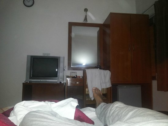 Airport Hotel: Photo taken from my bed.