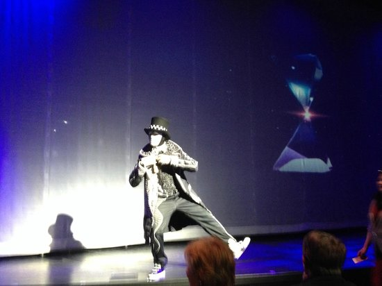 Jabbawockeez: MC of the show- only part permissible to photograph/record