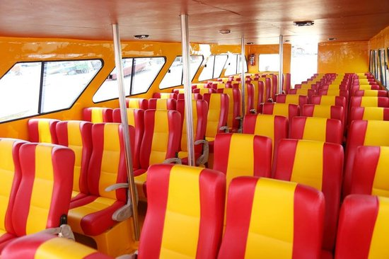 Caspla bali fast boat interior