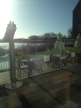 De Vere Cotswold Water Park: View across the park whilst eating breakfast
