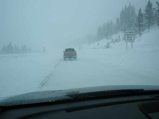 Beaver Creek Ski Area: The Hairy Drive There ! Love Snow Driving !!