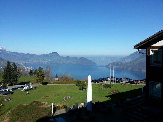 Seminarhotel Seeblick: Vue balcon ... pas mal hein ?