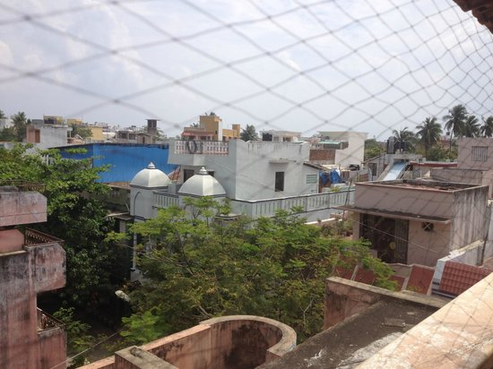 Swades Guest House: View from upper roof terrace.