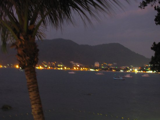 Amari Phuket : view of Patong beach & township in the late evening view from our room