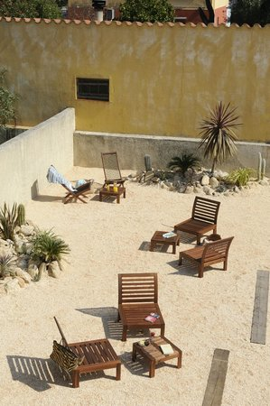 lounge extérieur Hôtel les Mimosas Argeles sur Mer