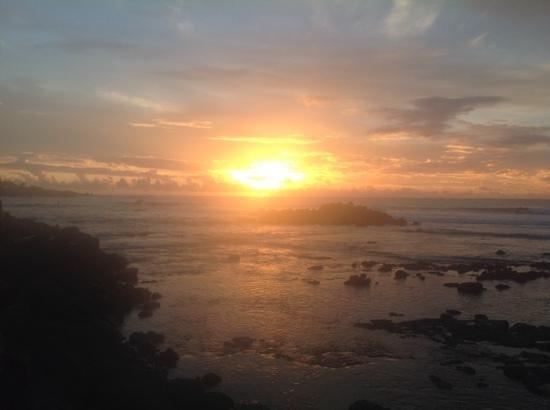 tramonto a RAPANUI DAL RISTORANTE LA KALETA