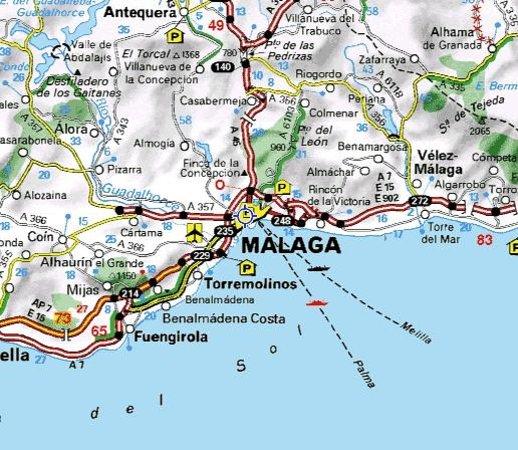costa del sol espanha mapa Mapa da zona   Foto de Malaga Cathedral, Málaga   TripAdvisor costa del sol espanha mapa