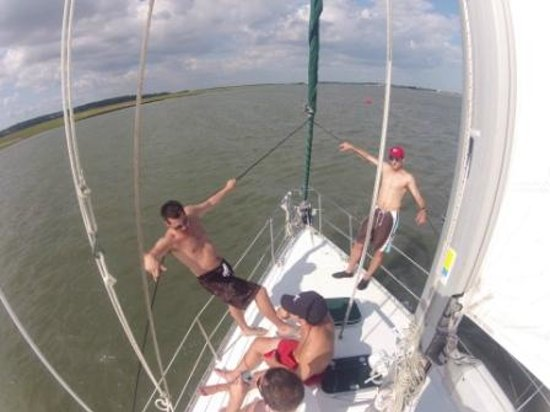 Sailing The Edge Of America - Folly Beach : Bachelor Party
