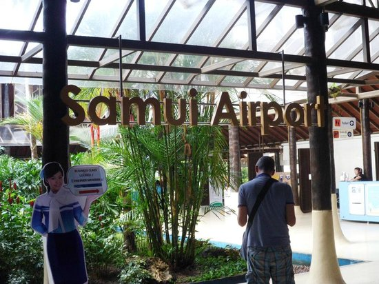 ShaSa Resort & Residences, Koh Samui: The Airport, flew with Malaysian Airlines, best flight and service ever.