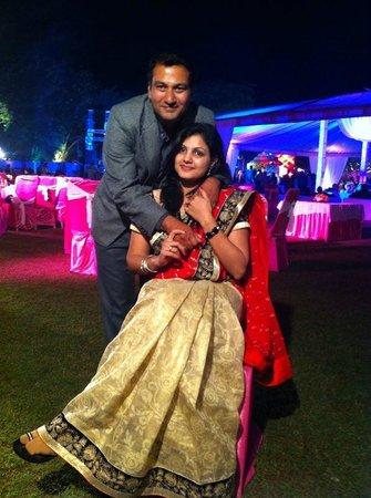 Westin Gurgaon, New Delhi : with my wife