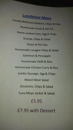 West Walton, UK: great price thursday's lunchtime menu