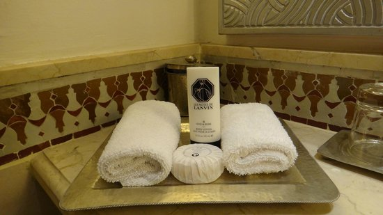 Sofitel Marrakech Lounge and Spa: produits Lanvin