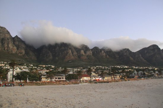 Camps Bay beach with view on Twelve Apostles
