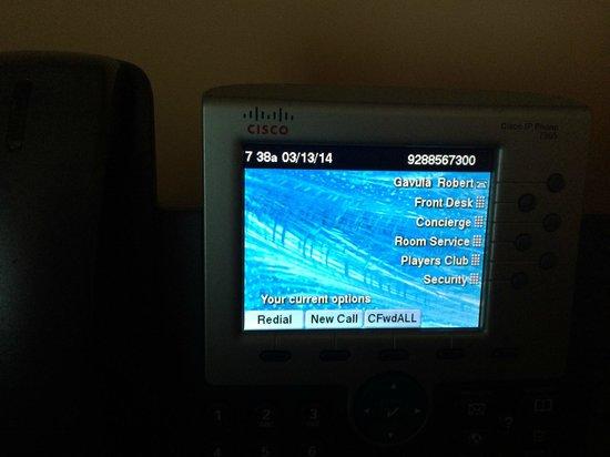 Twin Arrows Navajo Casino Resort: High Tech Room Phone