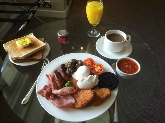 Hilton London Metropole: Room service breakfast