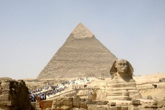 Plateau de Gizeh : La Sfinge e la Piramide