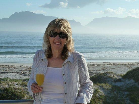 The Last Word Long Beach: Enjoying a glass of Bucks Fizz with breakfast