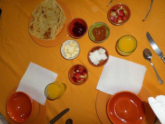 Riad Dar Nimbus: le petit déjeuner