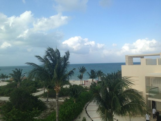 Beloved Playa Mujeres : A view of the beach from the top deck of Bella 3