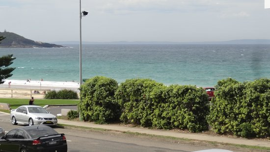 Mollymook Shores: view from the room verandah
