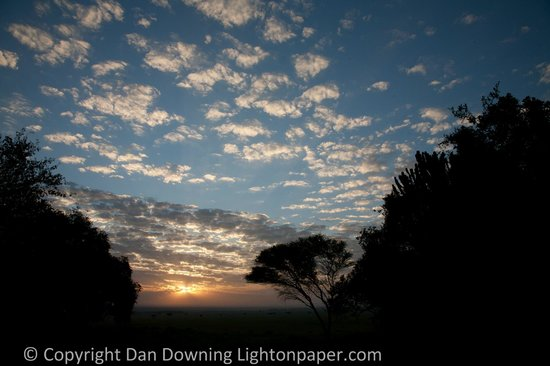 andBeyond Bateleur Camp: Sunrise from the deck