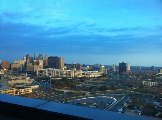 View from iridescence 16th floor motor city casino hotel for Motor city casino hotels