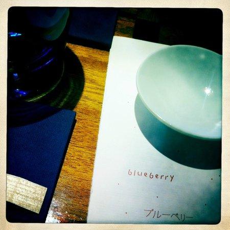 Blueberry, carte.