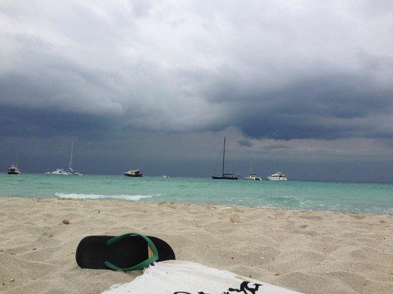 Strand Playa de ses Illetes: Incluso con tormenta es maravillosa!