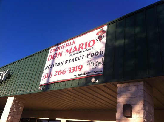 Taqueria Don Mario: Simple location, good signage